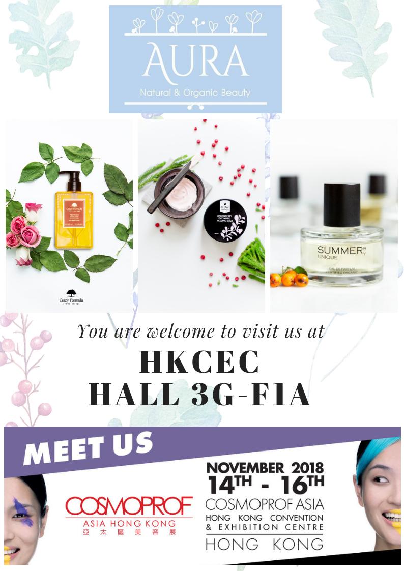 AURA presents Flow Cosmetics at Cosmoprof Asia 2018!