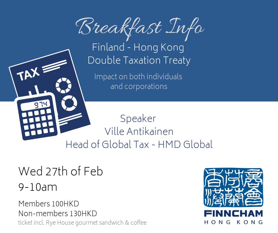 Breakfast Info Finland Hong Kong Double Taxation Treaty